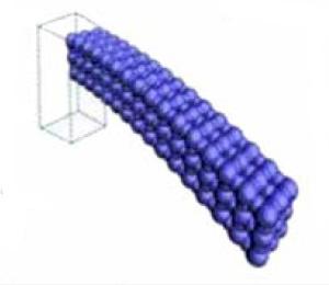 Рис.4. Модель нанокантилевера, проявляющего флексоэлектрические свойства. Рис. из обсуждаемой статьи
