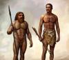 Неандерталец и сапиенс. Рисунок Николая Ковалева