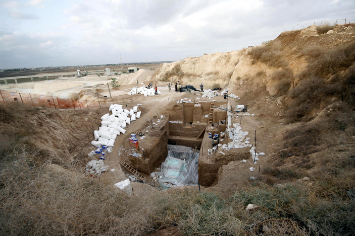Рис. 1. Палеолитическое местонахождение Нешер Рамла