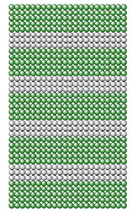 Рис.2. Сверхрешетка— это чередующиеся слои толщиной внесколько атомов различных материалов спохожей кристаллической структурой (изображение из брошюры Нобелевского комитета, описывающей научную сторону эффекта)