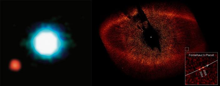Рис. 3. Коричневый карлик 2M 2107 и его планета-компаньон 2M1207b