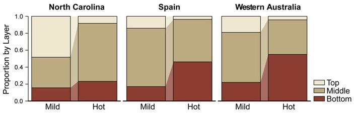 Рис. 6. Пластичность реакции самок на отклонения температуры