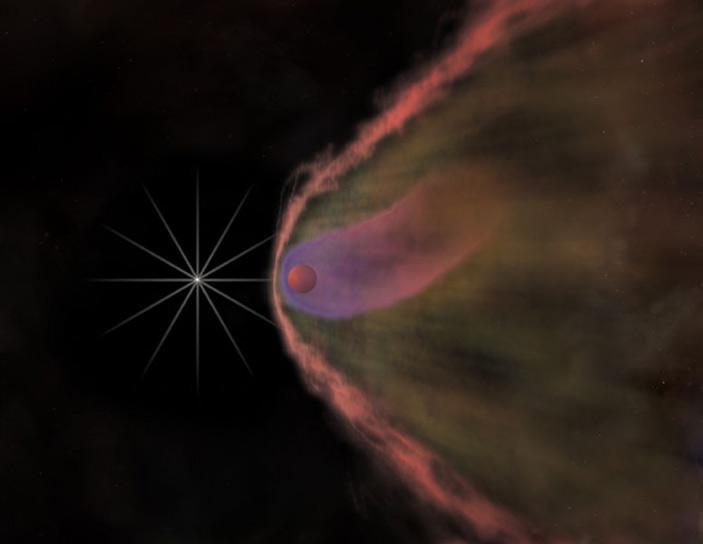Художественное изображение системы B1957+20