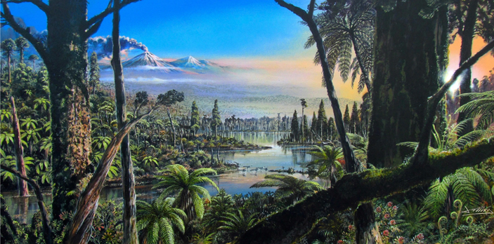 В позднемеловую эпоху вАнтарктиде росли пышные дождевые леса