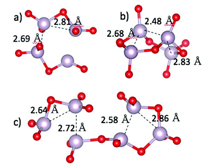 Три типа структур оксида технеция(V)