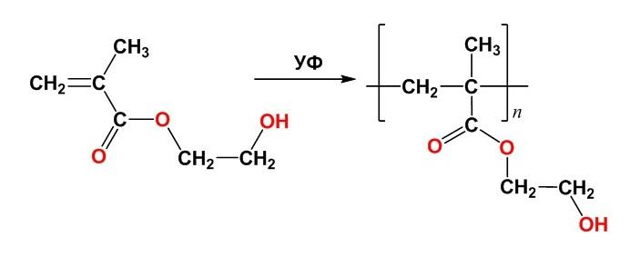 Полимеризация гидроксиэтилметакрилата