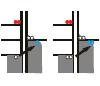 Схема электронных перескоков на энергетической диаграмме (по вертикали отложена энергия электронов). Рис. из обсуждаемой статьи в Physical Review Letters