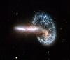В сталкивающихся галактиках найдены тесные пары сверхмассивных черных дыр