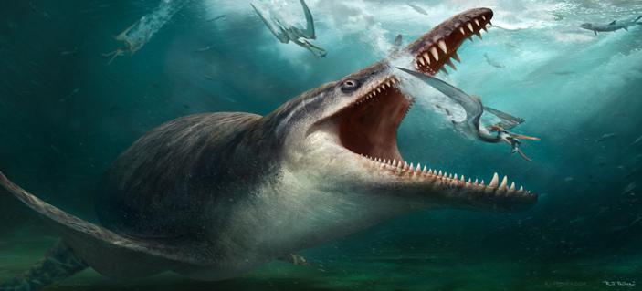 Гипотетическая реконструкция суровых будней австралийских птерозавров