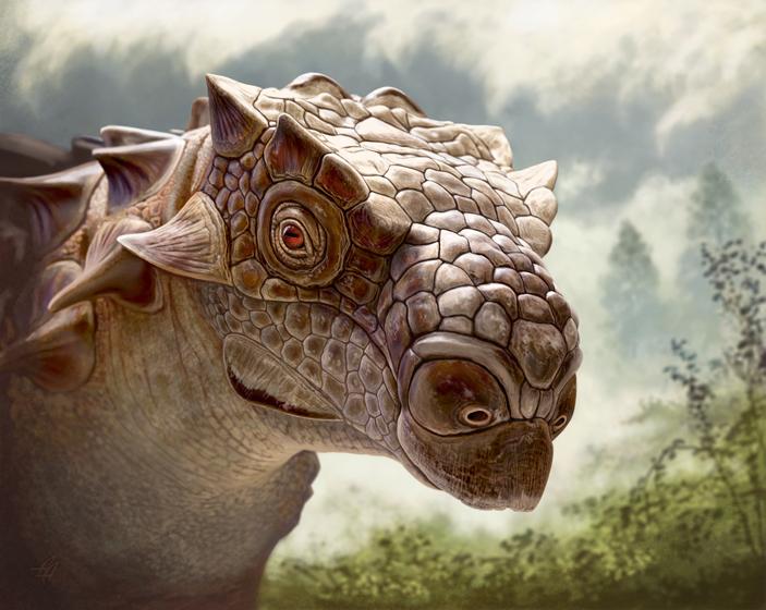 У анкилозавров биссектипельт была холодная голова и острый нюх
