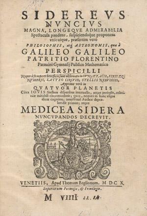 Титульный лист книги Галилео Галилея Sidereus Nuncius
