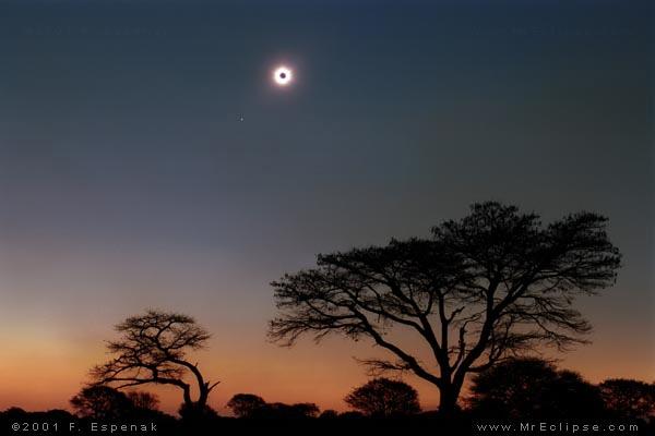 Полное солнечное затмение 21