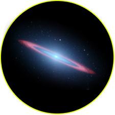 Галактика Сомбреро в инфракрасном диапазоне