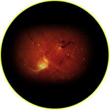 Туманности и пылевые облака вблизи центра Галактики в ИК-диапазоне