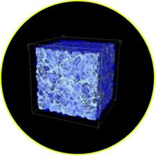 Компьютерная модель распределения вещества во Вселенной