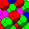 Заполнение пространства усеченными октаэдрами