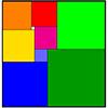 Прямоугольник разрезан на 9квадратов, как показано на рисунке. Сторона маленького белого квадрата равна1. <b>Найдите</b> стороны прямоугольника
