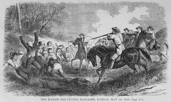 Резня у Лебединого Болота 19мая 1858года. Изображение с сайта en.wikipedia.org
