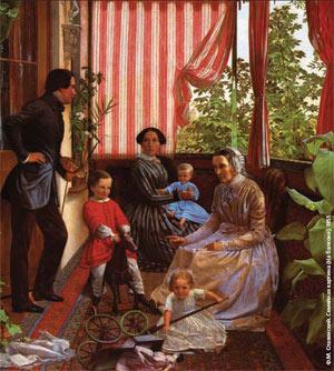 Ф. М. Славянский. Семейная картина (На балконе). 1851. Изображение: «Экология и жизнь»