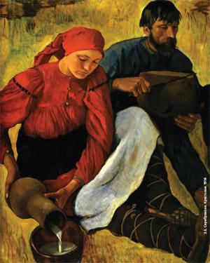 З. Е. Серебрякова. Крестьяне. 1914. Изображение: «Экология и жизнь»
