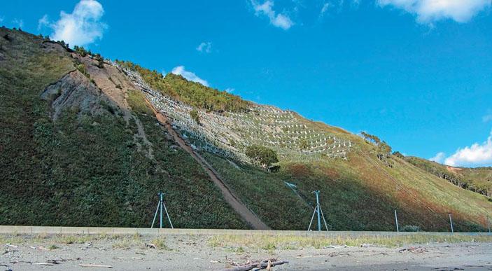 Выборочная застройка склона снегоудерживающими сооружениями на лавиноопасном участке железной и автомобильной дороги Южно-Сахалинск — Оха («Природа» №8, 2019)