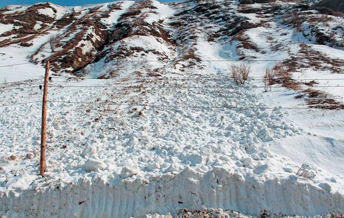 Лавины, сошедшие из надувов в боковых частях лотковых лавиносборов у автодороги Шебунино — Горнозаводск («Природа» №8, 2019)