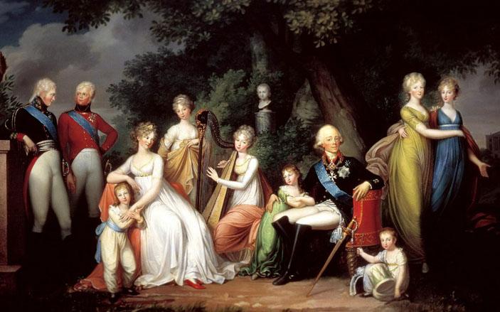 Портрет императора Павла I с семьей работы Герхарда фон Кюгельгена («Химия и жизнь» №2, 2021)