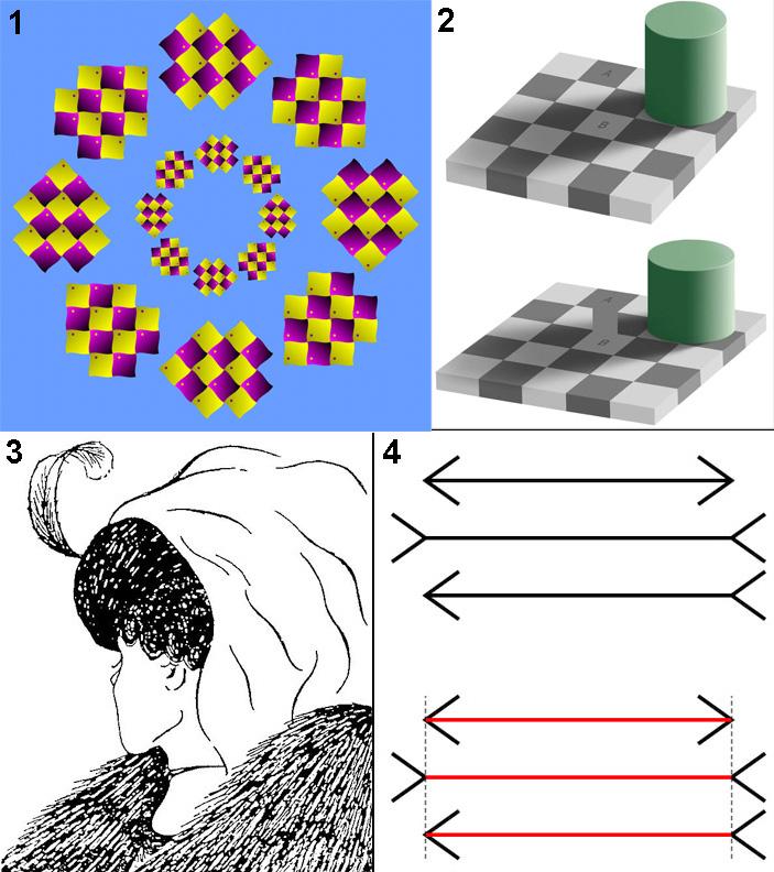 Рис. 1. Примеры известных зрительных иллюзий
