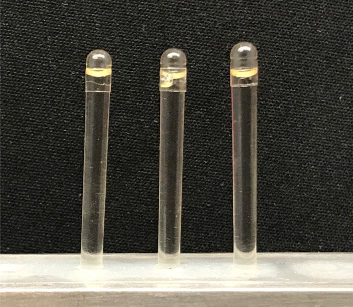 Рис. 6. Капсулы с инсулином в ионной жидкости для перорального приема